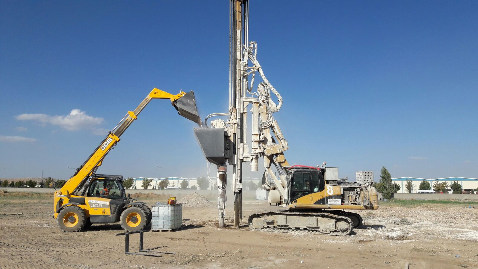 zeki mensucat Impact System was chosen for soil improvement beneath the single footings in Gaziantep.